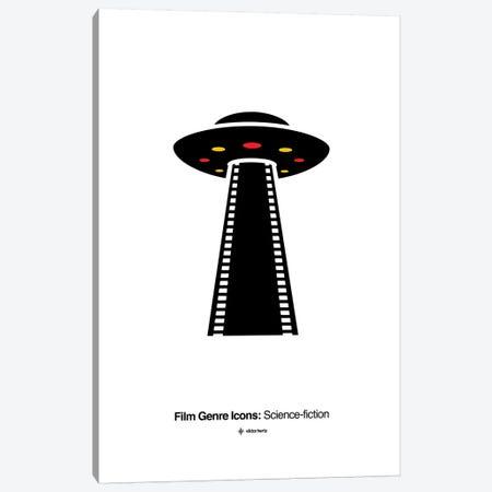 Science-Fiction Film Genre Icon Canvas Print #VHE214} by Viktor Hertz Canvas Artwork