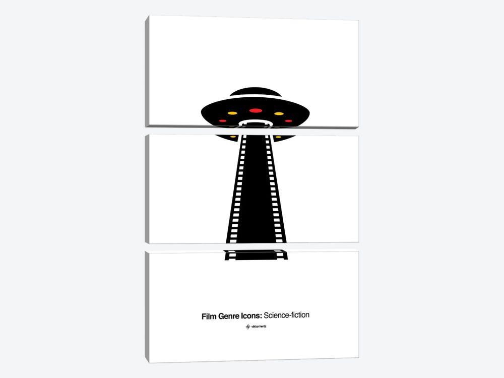 Science-Fiction Film Genre Icon by Viktor Hertz 3-piece Canvas Artwork