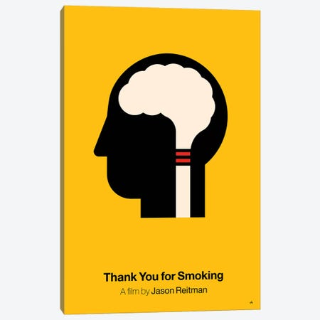 Thank You For Smoking Canvas Print #VHE21} by Viktor Hertz Art Print