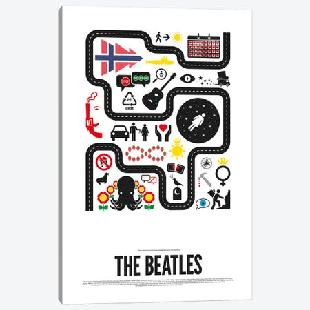 The Beatles Canvas Print #VHE22} by Viktor Hertz Canvas Art Print
