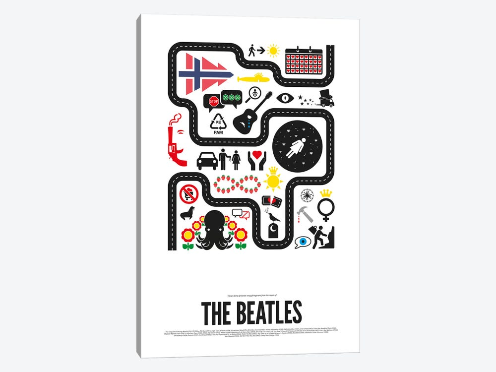 The Beatles by Viktor Hertz 1-piece Canvas Artwork