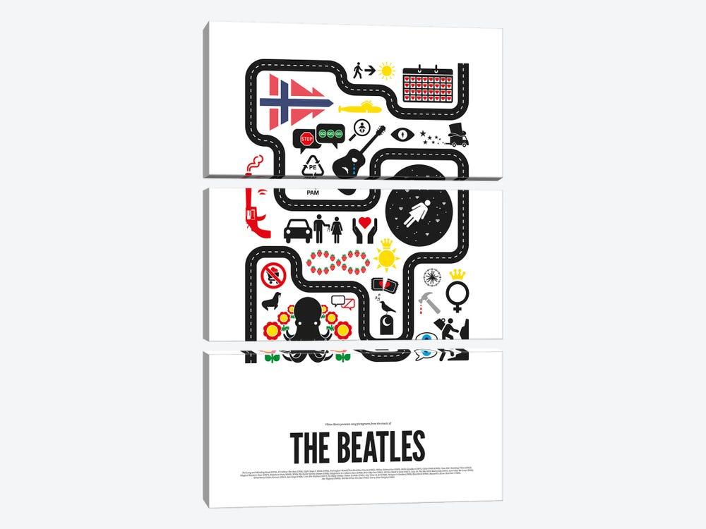 The Beatles by Viktor Hertz 3-piece Canvas Art