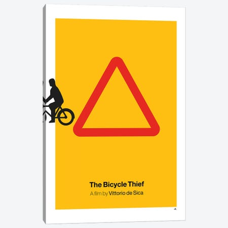 The Bicycle Thief Canvas Print #VHE23} by Viktor Hertz Canvas Print