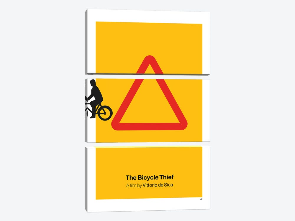The Bicycle Thief by Viktor Hertz 3-piece Art Print