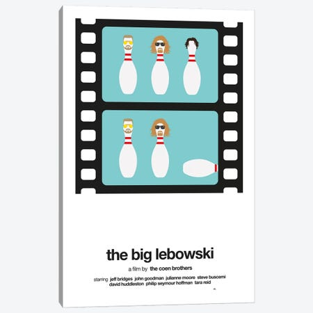 The Big Lebowski Canvas Print #VHE24} by Viktor Hertz Canvas Art