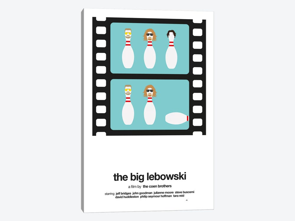 The Big Lebowski by Viktor Hertz 1-piece Canvas Art