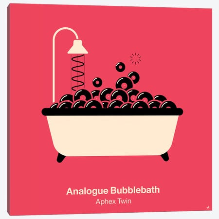 Analogue Bubblebath Canvas Print #VHE29} by Viktor Hertz Art Print