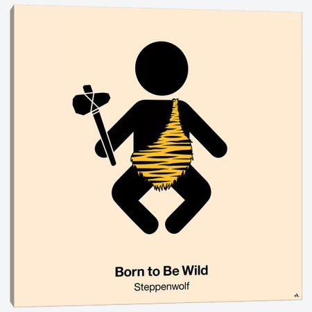 Born To Be Wild Canvas Print #VHE32} by Viktor Hertz Canvas Art