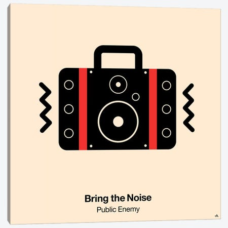 Bring The Noise Canvas Print #VHE34} by Viktor Hertz Canvas Art Print