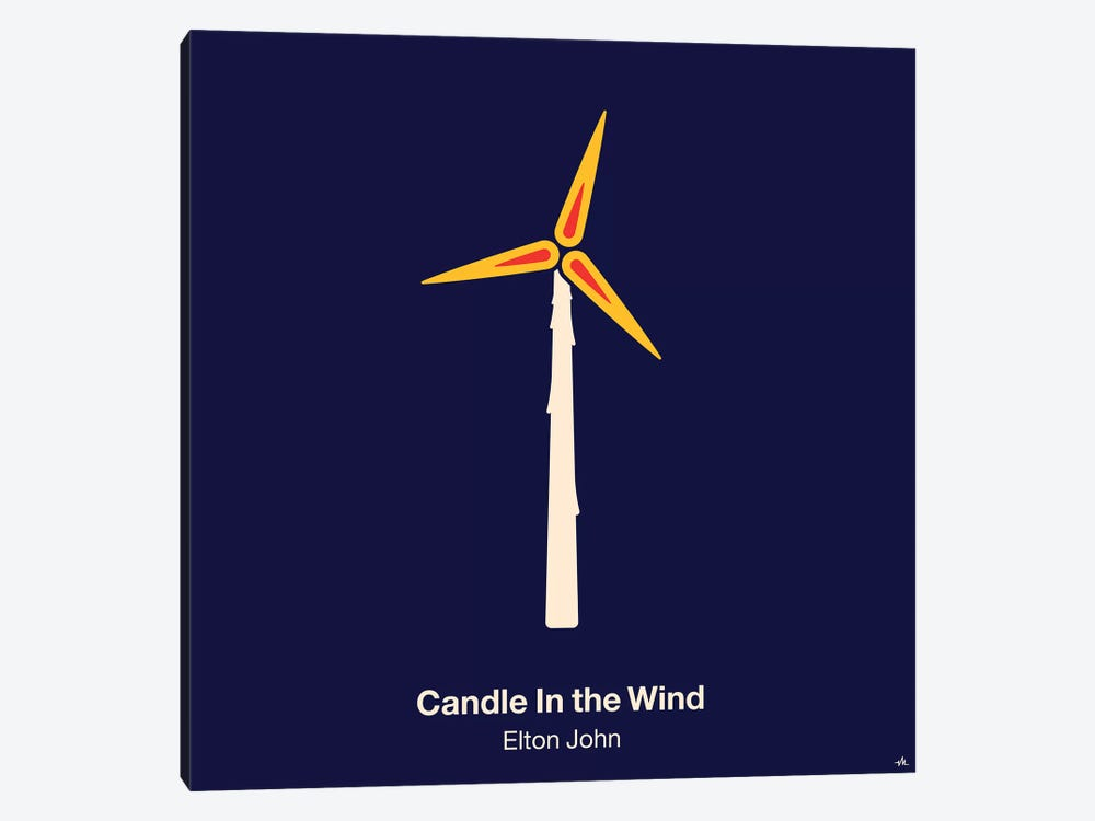 Candle In The Wind by Viktor Hertz 1-piece Canvas Artwork