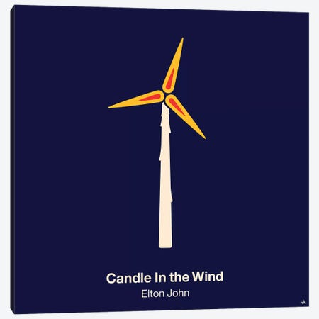 Candle In The Wind Canvas Print #VHE35} by Viktor Hertz Canvas Art Print