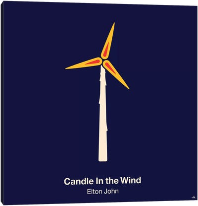 Candle In The Wind Canvas Art Print