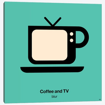 Coffee And Tv Canvas Print #VHE36} by Viktor Hertz Canvas Print