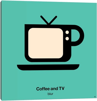 Coffee And Tv Canvas Art Print