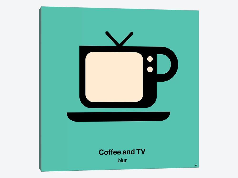 Coffee And Tv by Viktor Hertz 1-piece Art Print