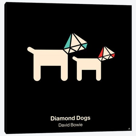 Diamond Dogs Canvas Print #VHE39} by Viktor Hertz Canvas Artwork