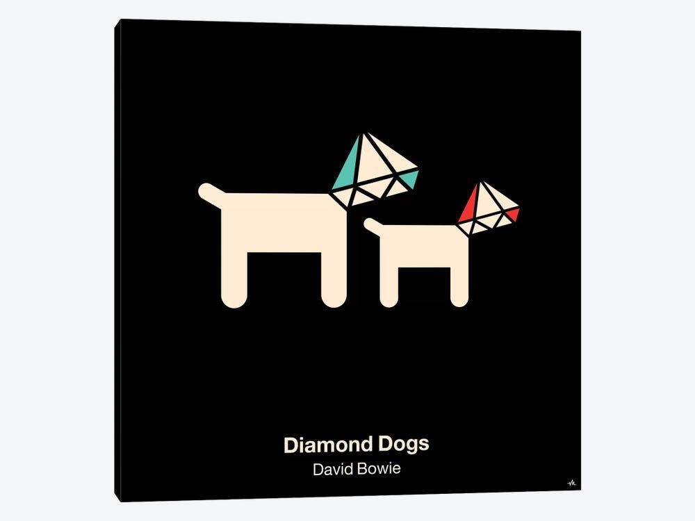 Diamond Dogs by Viktor Hertz 1-piece Canvas Art
