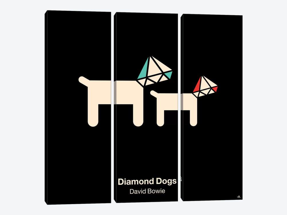 Diamond Dogs by Viktor Hertz 3-piece Canvas Artwork