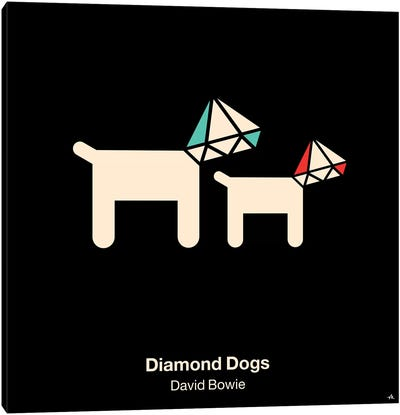 Diamond Dogs Canvas Art Print