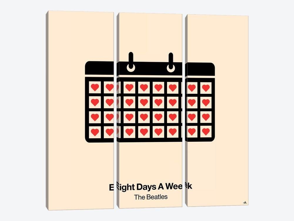 Eight Days A Week by Viktor Hertz 3-piece Canvas Art Print