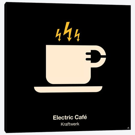 Electric Cafe 3-Piece Canvas #VHE42} by Viktor Hertz Canvas Print