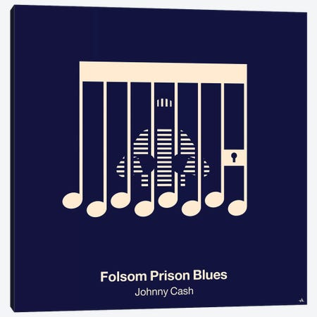 Folsom Prison Blues Canvas Print #VHE46} by Viktor Hertz Canvas Art