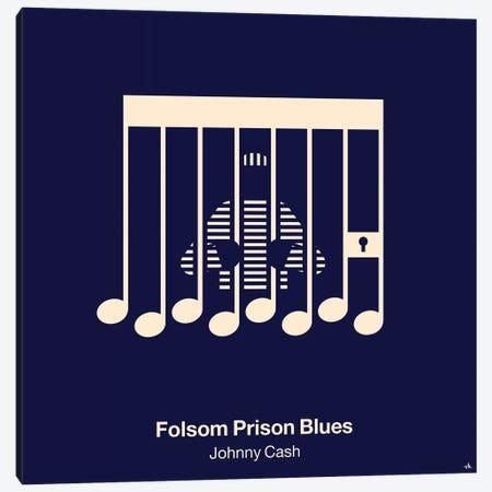 Folsom Prison Blues Canvas Print #VHE46} by Viktor Hertz Canvas Art