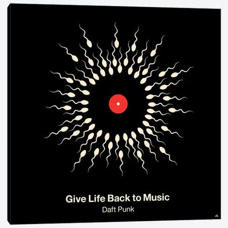 Give Life Back To Music Canvas Print #VHE48} by Viktor Hertz Canvas Art Print
