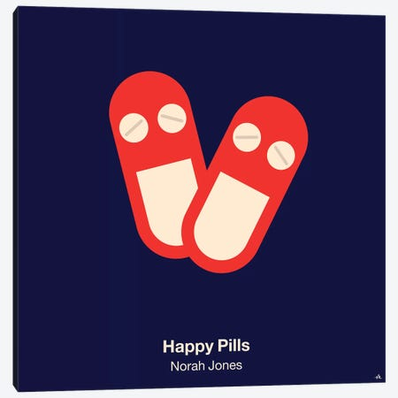 Happy Pills Canvas Print #VHE49} by Viktor Hertz Art Print