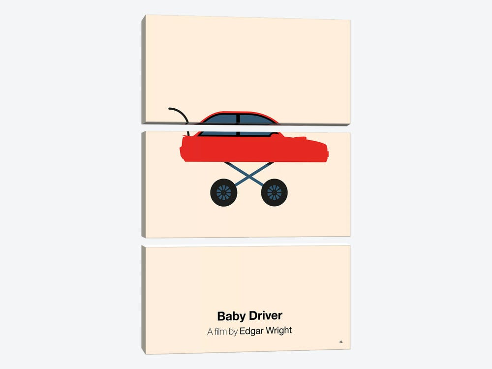 Baby Driver by Viktor Hertz 3-piece Art Print