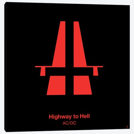 Highway To Hell Canvas Print #VHE51} by Viktor Hertz Canvas Art