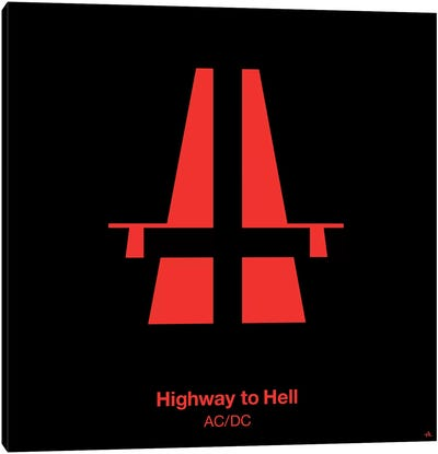 Highway To Hell Canvas Art Print