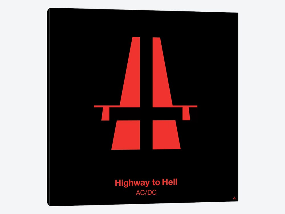 Highway To Hell by Viktor Hertz 1-piece Canvas Wall Art