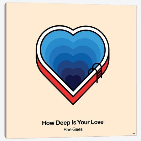 How Deep Is Your Love Canvas Print #VHE52} by Viktor Hertz Canvas Wall Art
