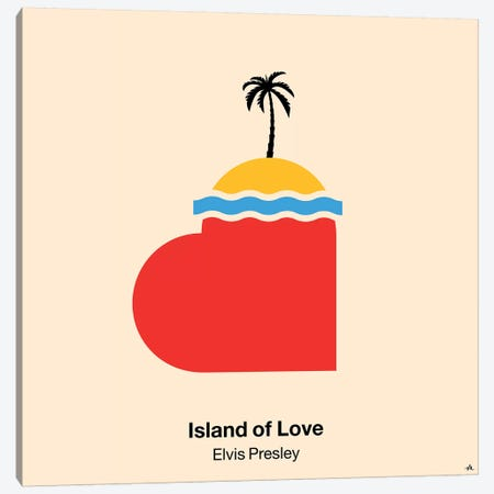 Island Of Love 3-Piece Canvas #VHE56} by Viktor Hertz Art Print