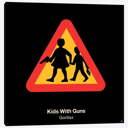 Kids With Guns Canvas Print #VHE58} by Viktor Hertz Canvas Wall Art