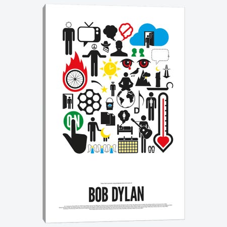 Bob Dylan Canvas Print #VHE5} by Viktor Hertz Canvas Art