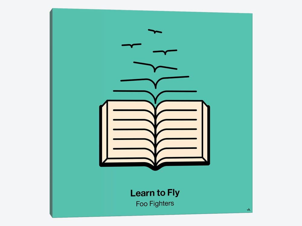 Learn To Fly by Viktor Hertz 1-piece Canvas Artwork