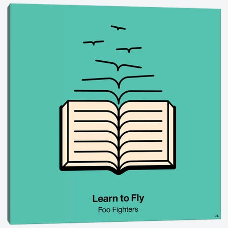 Learn To Fly Canvas Print #VHE60} by Viktor Hertz Art Print
