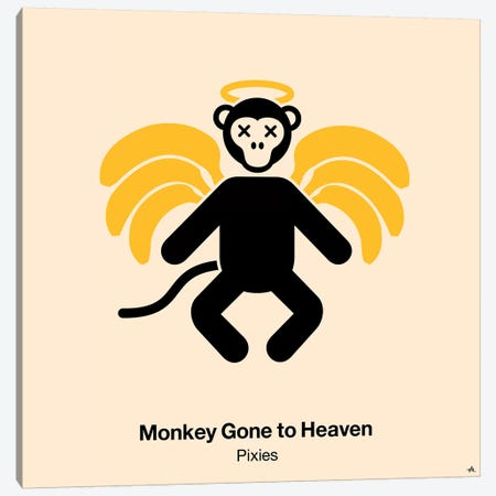 Monkey Gone To Heaven Canvas Print #VHE68} by Viktor Hertz Canvas Art Print