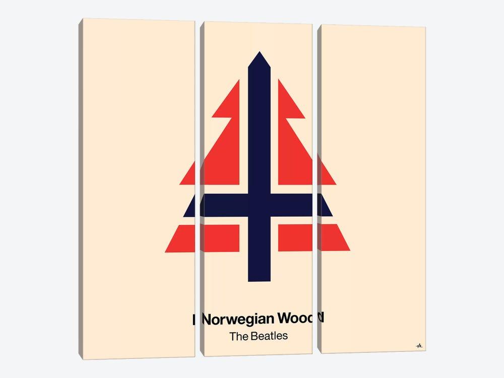Norwegian Wood by Viktor Hertz 3-piece Canvas Wall Art