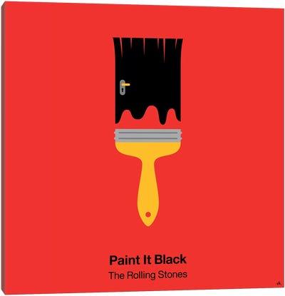 Paint It Black Canvas Art Print