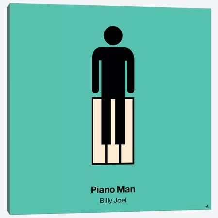 Piano Man Canvas Print #VHE75} by Viktor Hertz Canvas Print