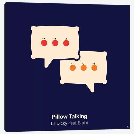 Pillow Talking Canvas Print #VHE76} by Viktor Hertz Canvas Print