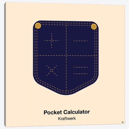 Pocket Calculator Canvas Print #VHE77} by Viktor Hertz Art Print