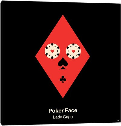 Poker Face Canvas Art Print