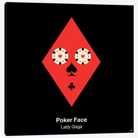 Poker Face Canvas Print #VHE78} by Viktor Hertz Canvas Art