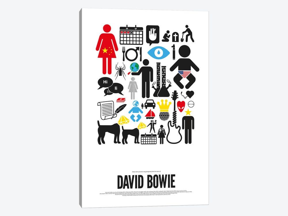 David Bowie by Viktor Hertz 1-piece Canvas Art