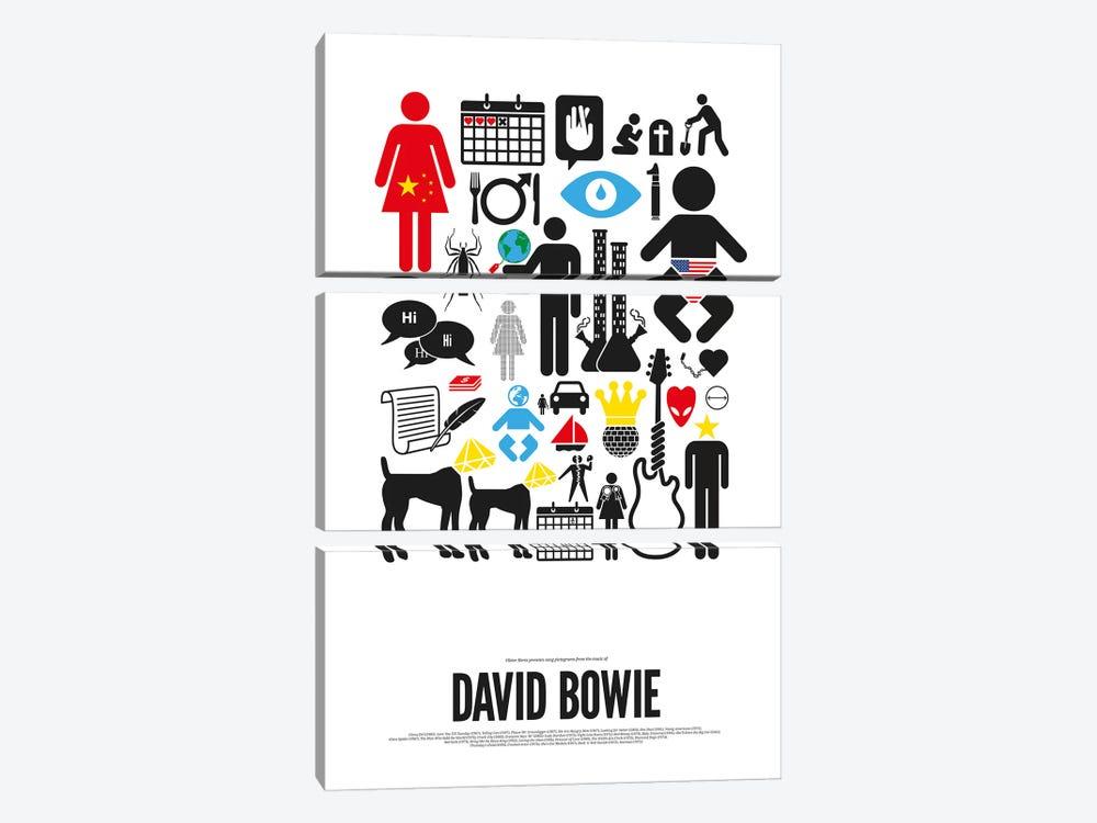 David Bowie by Viktor Hertz 3-piece Canvas Wall Art