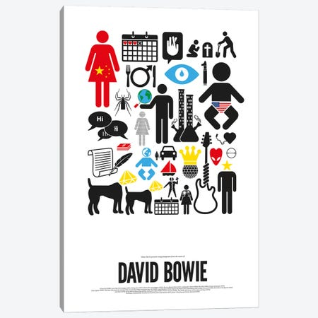 David Bowie Canvas Print #VHE7} by Viktor Hertz Canvas Wall Art
